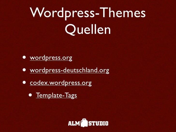 Wordpress Themes - 웹