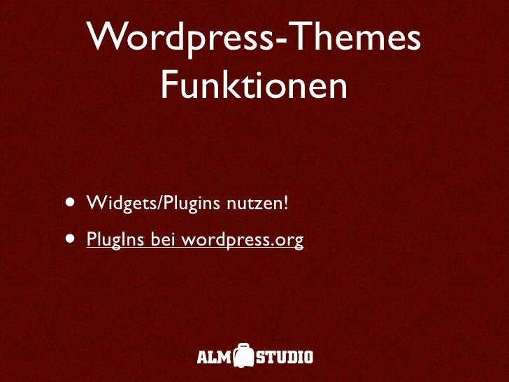 Wordpress Themes slideshare - 웹
