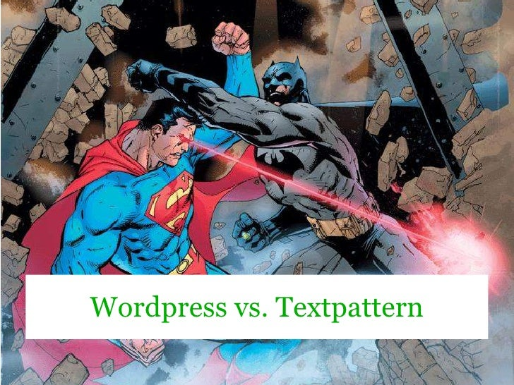 Wordpress vs. Textpattern