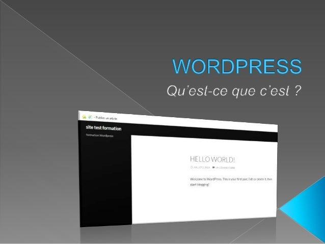 A l'origine, WordPress était un moteur de blog. Mais il a évolué pour devenir un Système de Gestion de Contenu ou CMS (Con...