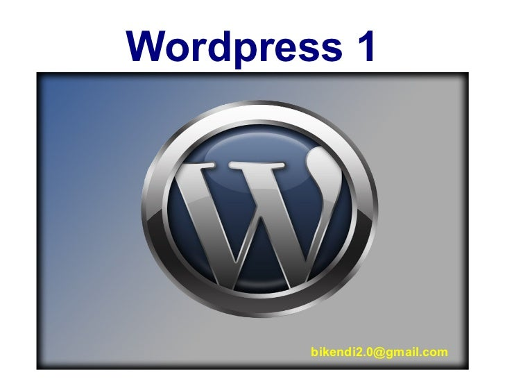 Wordpress 1 [email_address]