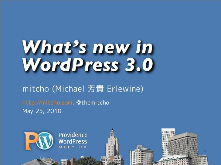 What's new in WordPress 3.0