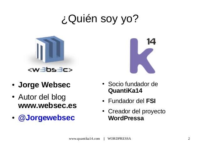 Wordpressa - Hardening en Wordpress Slide 2