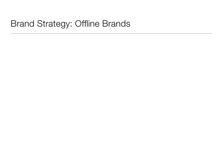 Brand Strategy: Offline Brands