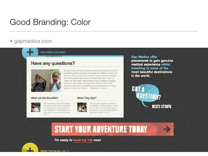 Good Branding: Color  • gapmedics.com