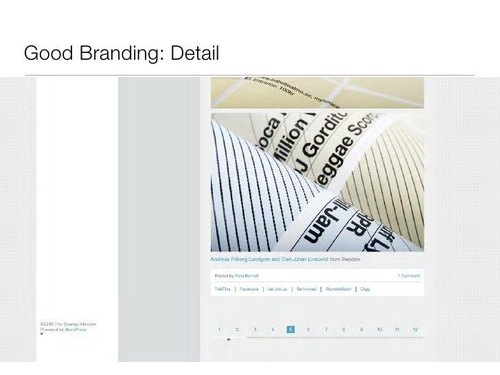 Good Branding: Detail