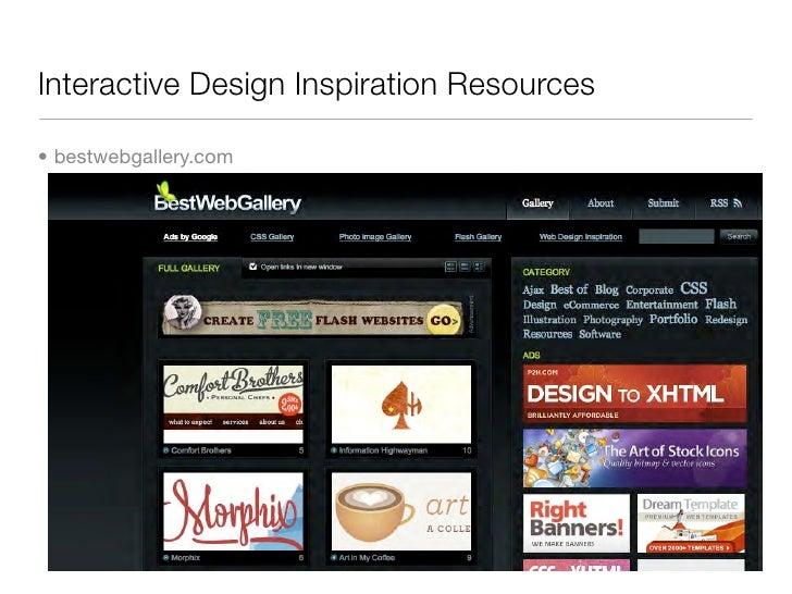 Interactive Design Inspiration Resources  • bestwebgallery.com