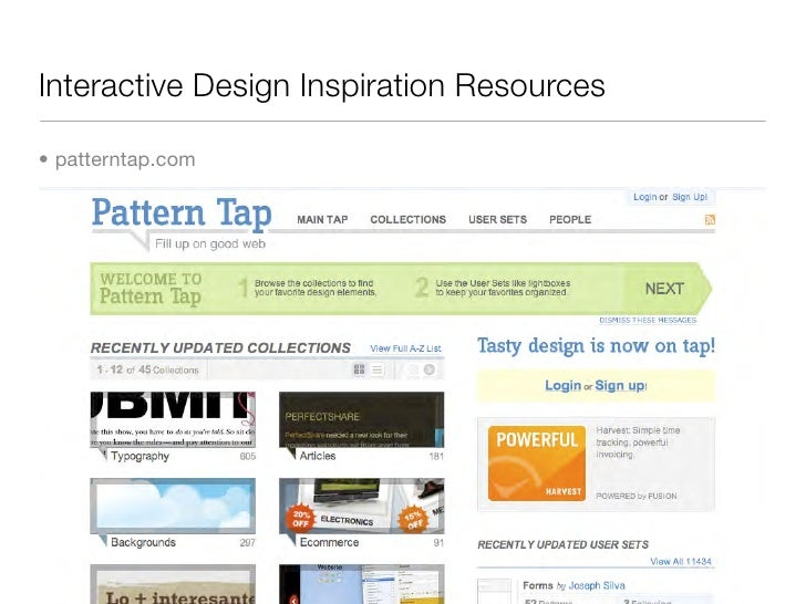 Interactive Design Inspiration Resources  • patterntap.com