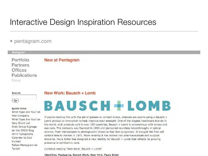 Interactive Design Inspiration Resources  • pentagram.com