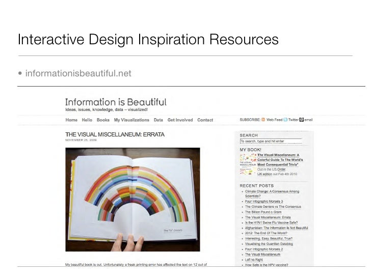 Interactive Design Inspiration Resources  • informationisbeautiful.net