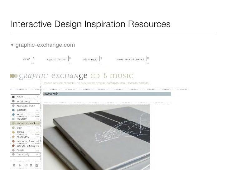 Interactive Design Inspiration Resources  • graphic-exchange.com