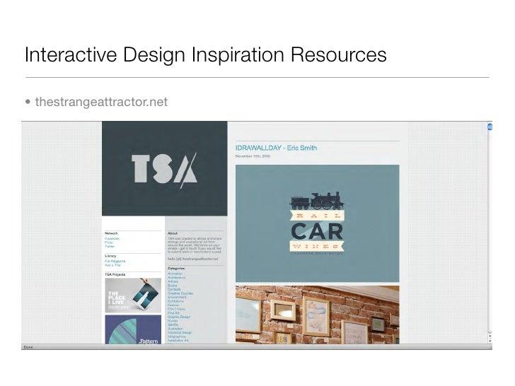 Interactive Design Inspiration Resources  • thestrangeattractor.net