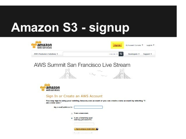 Amazon S3 - signup