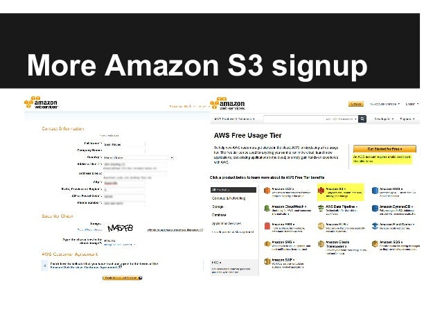 More Amazon S3 signup