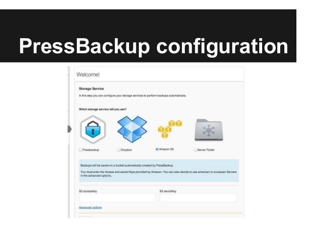 PressBackup configuration