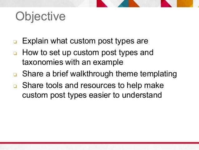WordPress Custom Post Types Slide 2