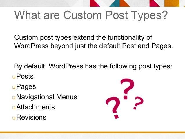 WordPress Custom Post Types Slide 3