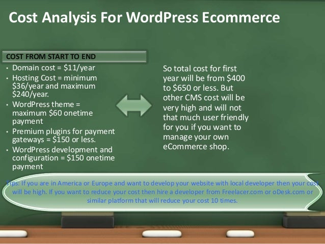 Wordpress Ecommerce for Small Business Analysis slideshare - 웹