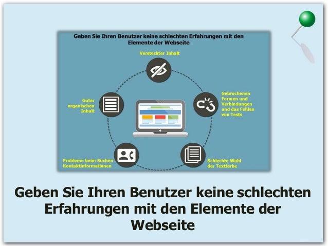 Geben Sie Ihren Benutzer keine schlechten Erfahrungen mit den Elemente der Webseite