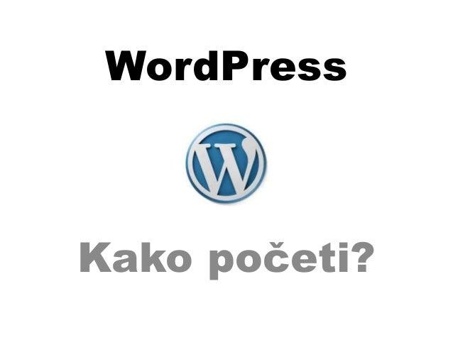 WordPress Kako početi?