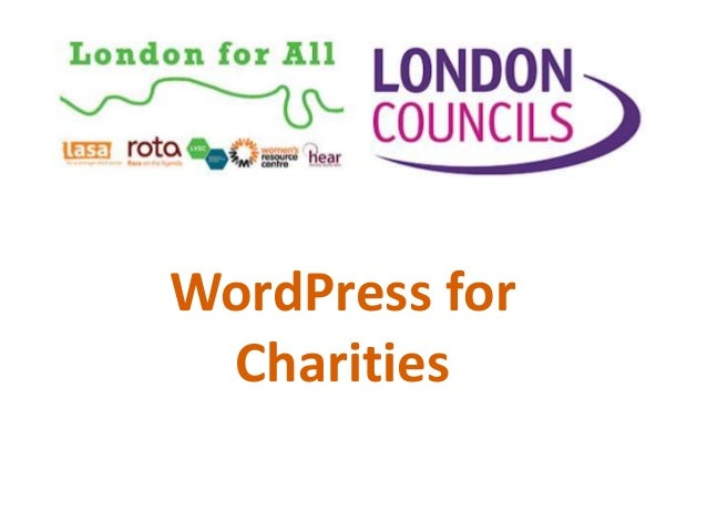 WordPress for Charities