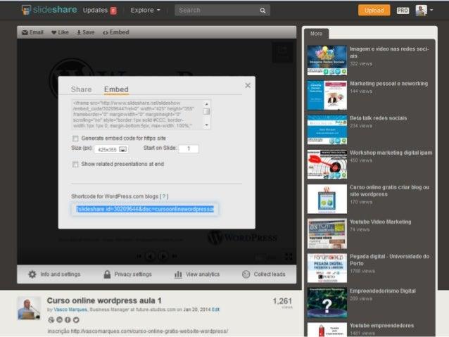 Menus Curso WordPress.com - Vasco Marques - www.vascomarques.com