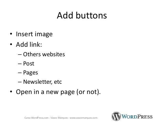 http://www.google.com/webmasters/tools/richsnippets Curso WordPress.com - Vasco Marques - www.vascomarques.com