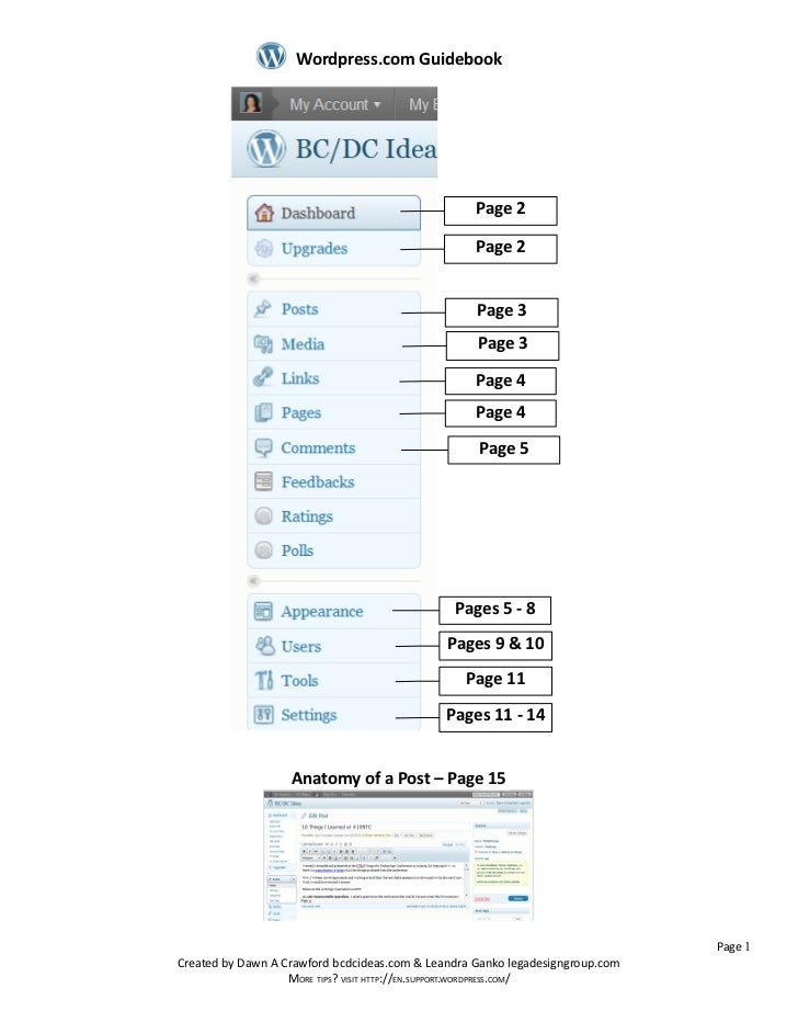 Wordpress.com Guidebook                                                   Page 2                                          ...