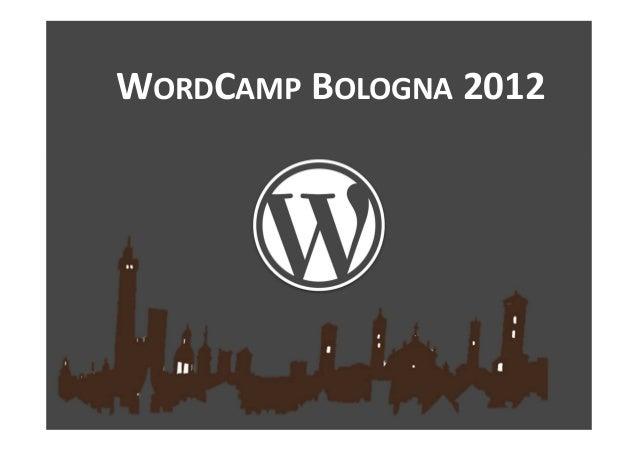 WORDCAMP BOLOGNA 2012