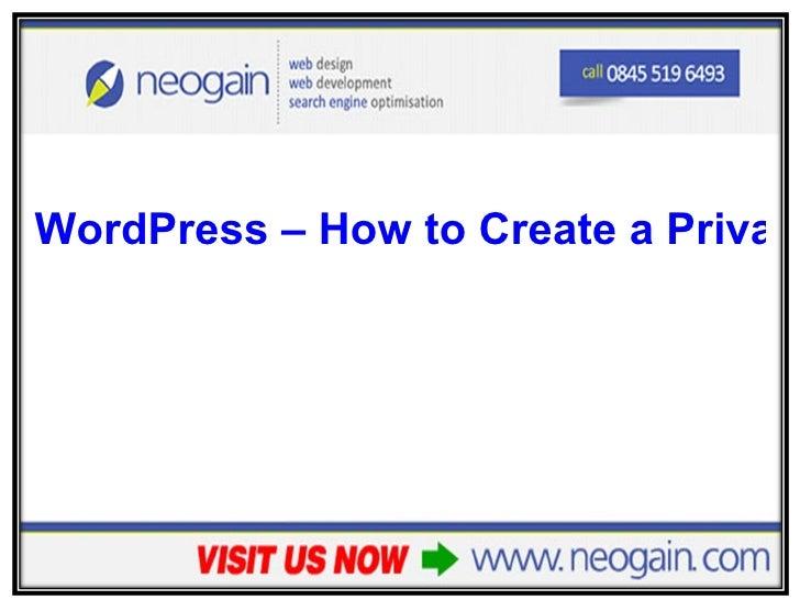 <ul><li>WordPress – How to Create a Privacy Policy Page </li></ul>