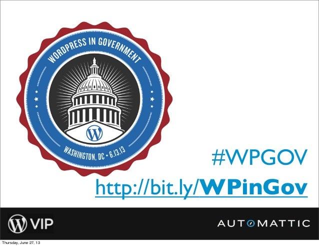 #WPGOVhttp://bit.ly/WPinGov
