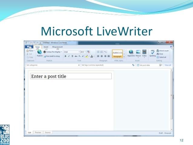 Microsoft LiveWriter                       12