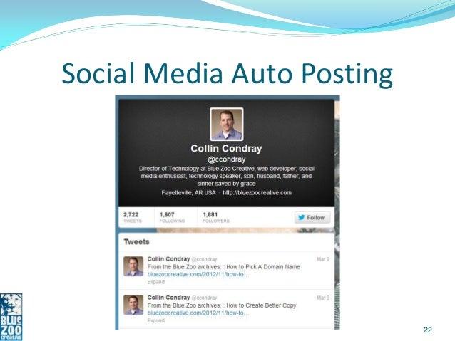 Social Media Auto Posting                            22
