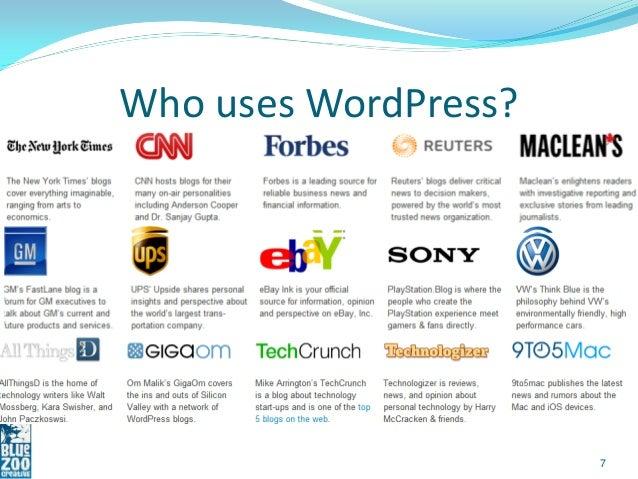Who uses WordPress?                      7