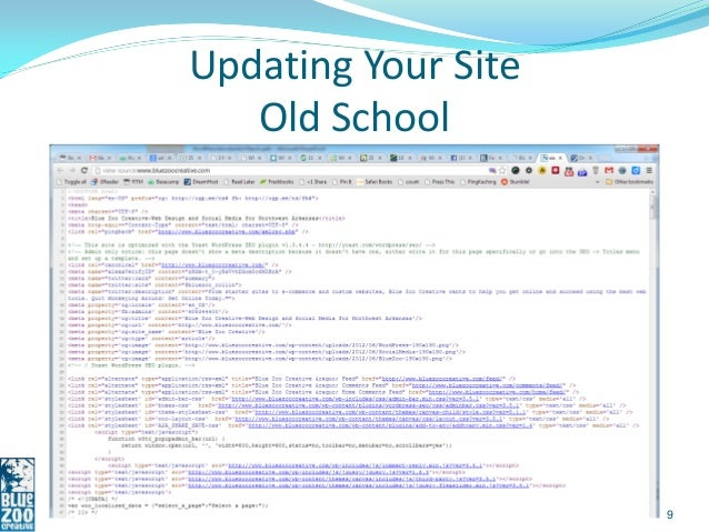 Updating Your Site   Old School                     9