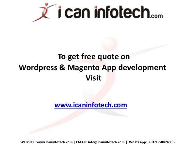 Wordpress & Magento Mobile App Development Company India
