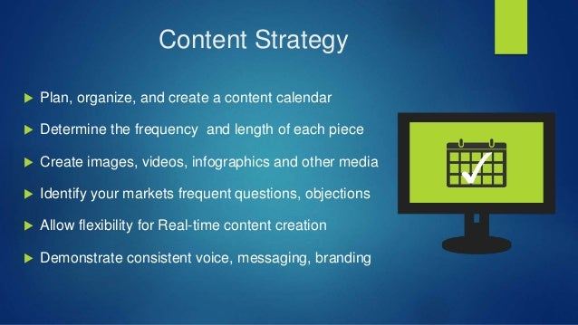 Marketing Strategy  Positioning of your brand / product / service  Create personas to cater to your audience ( Niche ) ...