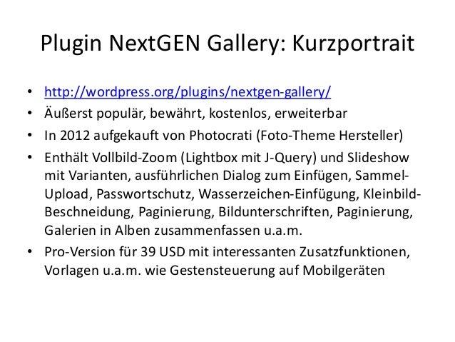 WordPress mit NextGEN Gallery Slide 2