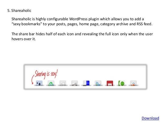 Wordpress most sought after social sharing plug-ins slideshare - 웹