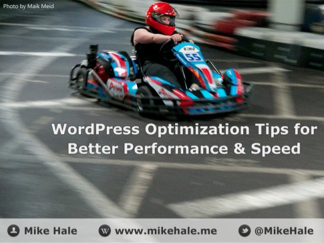 Agenda Why optimize WordPress? Hosting Options Caching Tools, Tips & Tricks