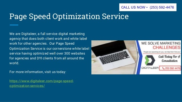 Page Speed Optimization Service • Digitaleer • 253 592-4476 slideshare - 웹
