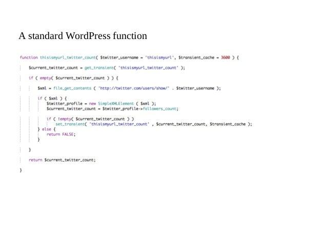 A standard WordPress function