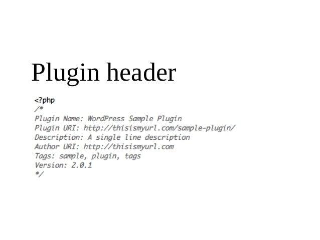 Plugin header