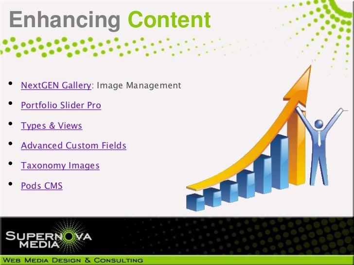 Enhancing Content•   NextGEN Gallery: Image Management•   Portfolio Slider Pro•   Types & Views•   Advanced Custom Fields•...