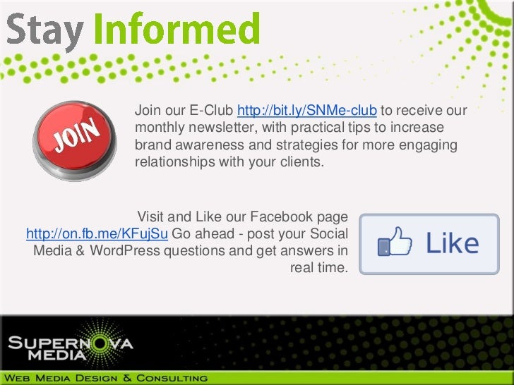 Join our E-Club http://bit.ly/SNMe-club to receive our                 monthly newsletter, with practical tips to increase...