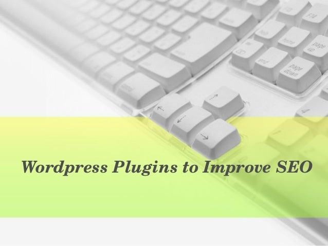 WordpressPluginstoImproveSEO