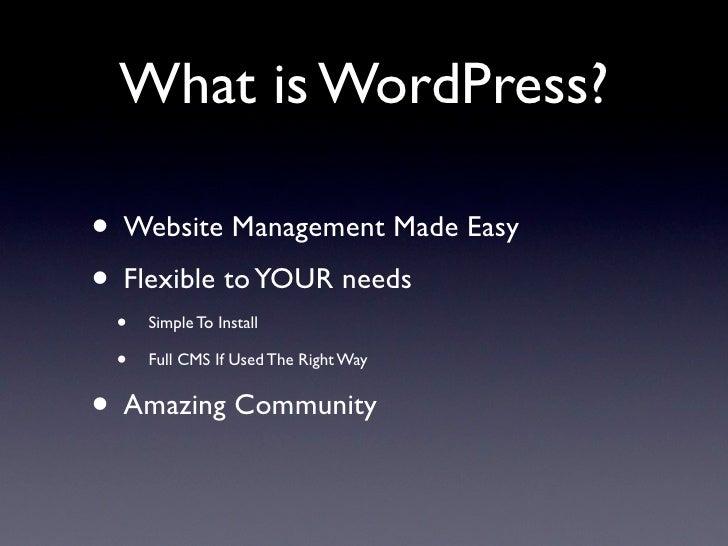 Wordpress Presentation slideshare - 웹