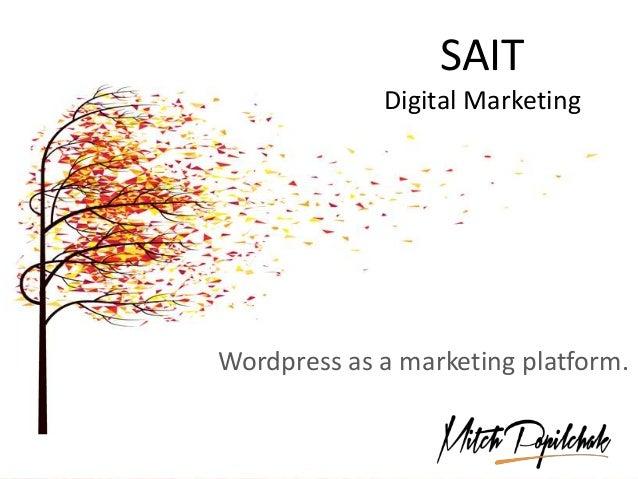 SAIT Digital Marketing Wordpress as a marketing platform.