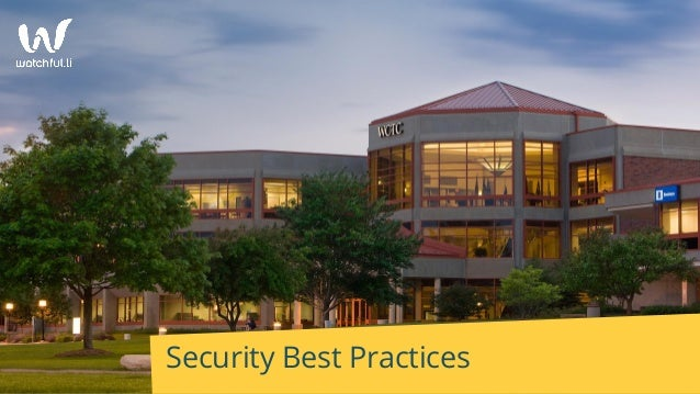Security Best Practices