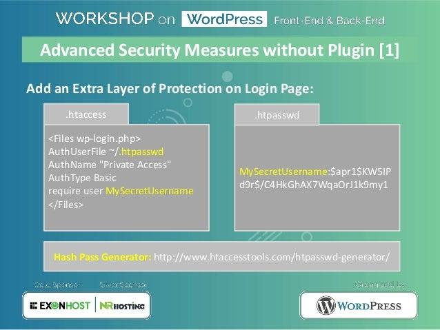 WordPress Security by Nirjhor Anjum